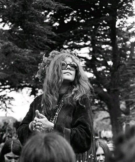 """[She was] a nubile hippy goddess, the ecstatic child-woman of your outrageous fantasies, the distillation of everything Haight-Ashbury stood for."" - David Dalton on seeing Janis in 1966."