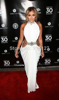 las mujeres celeb blanco sirena vendaje bodycon vestido celebridad adrienne bailon señoras sexy clubwear de cumpleaños por la noche fiesta d...