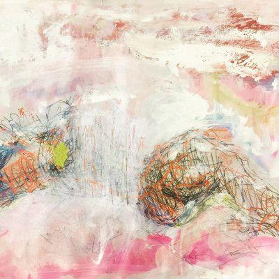 Andjana Pachkova, Julia in the Landscape, 2017, Mixed Media on Paper, 60 x 45 cm - $250 (Unframed)  www,stanleystreetgallery.com.au