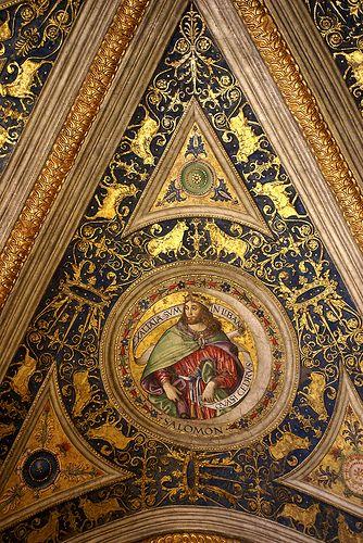 Vatikanische Museen, Appartamento Borgia, Sala dei Misteri della Fede,  König Salomon (King Salomon)  #TuscanyAgriturismoGiratola
