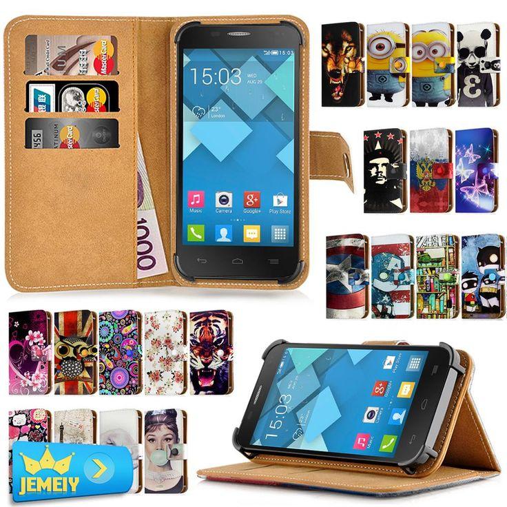 Universal Cover For Alcatel One Touch POP Star 3G OT5022 5022D Case Flip Wallet Adjustble Leather Skin Case Bag middle Size #Affiliate
