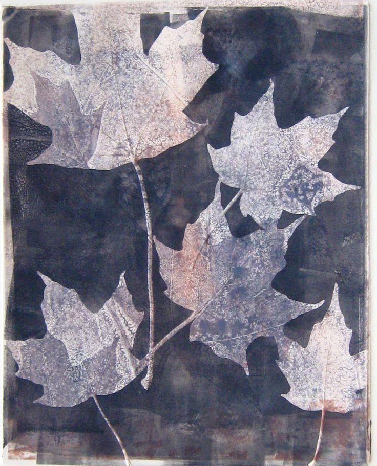 "Monotype Print by April Jordan. ""Nature in Monochromatic"""