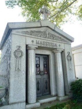 Joe Masseria, head of one of the most powerful Mafia Families in NYC during Prohibition.  His murder was ordered by Lucky Luciano.  Calvary Cemetary