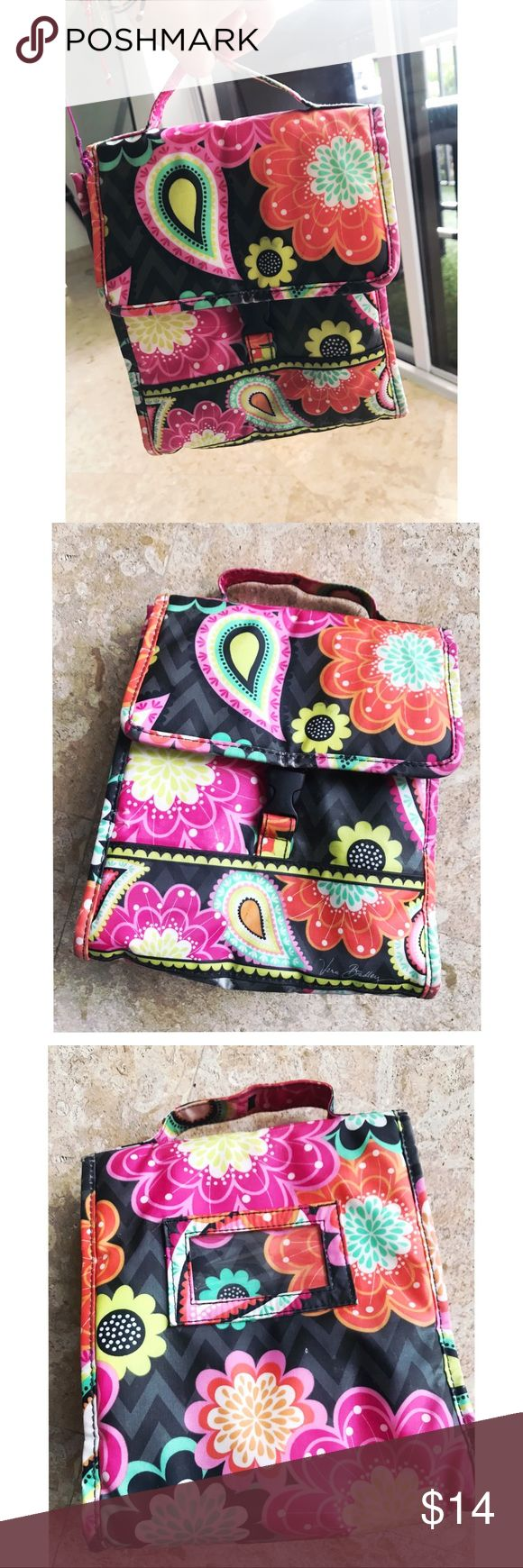 """Vera Bradley Lunch Sack ID window on back. Wipeable lining. Pushlock closure.  Dimensions 8"""" w x 9"""" h x 5"""" d with 1 ½"""" handle drop.  Wipe clean with damp cloth (but,  I used to wash it in the laundry machine too)  Good Condition Vera Bradley Bags"""