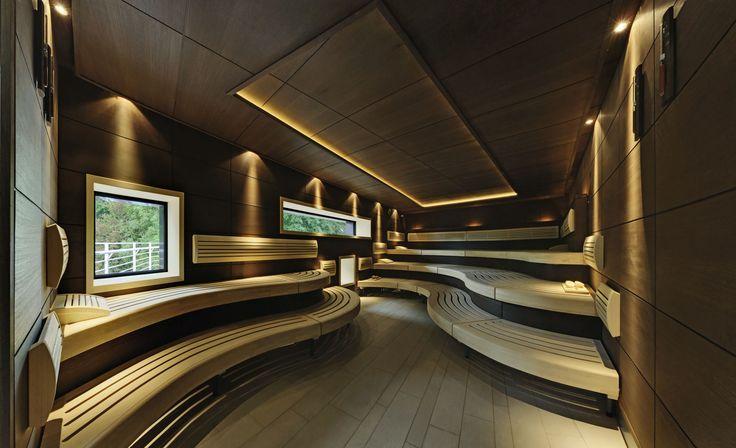 #Klafs sauna #contrast in light and dark