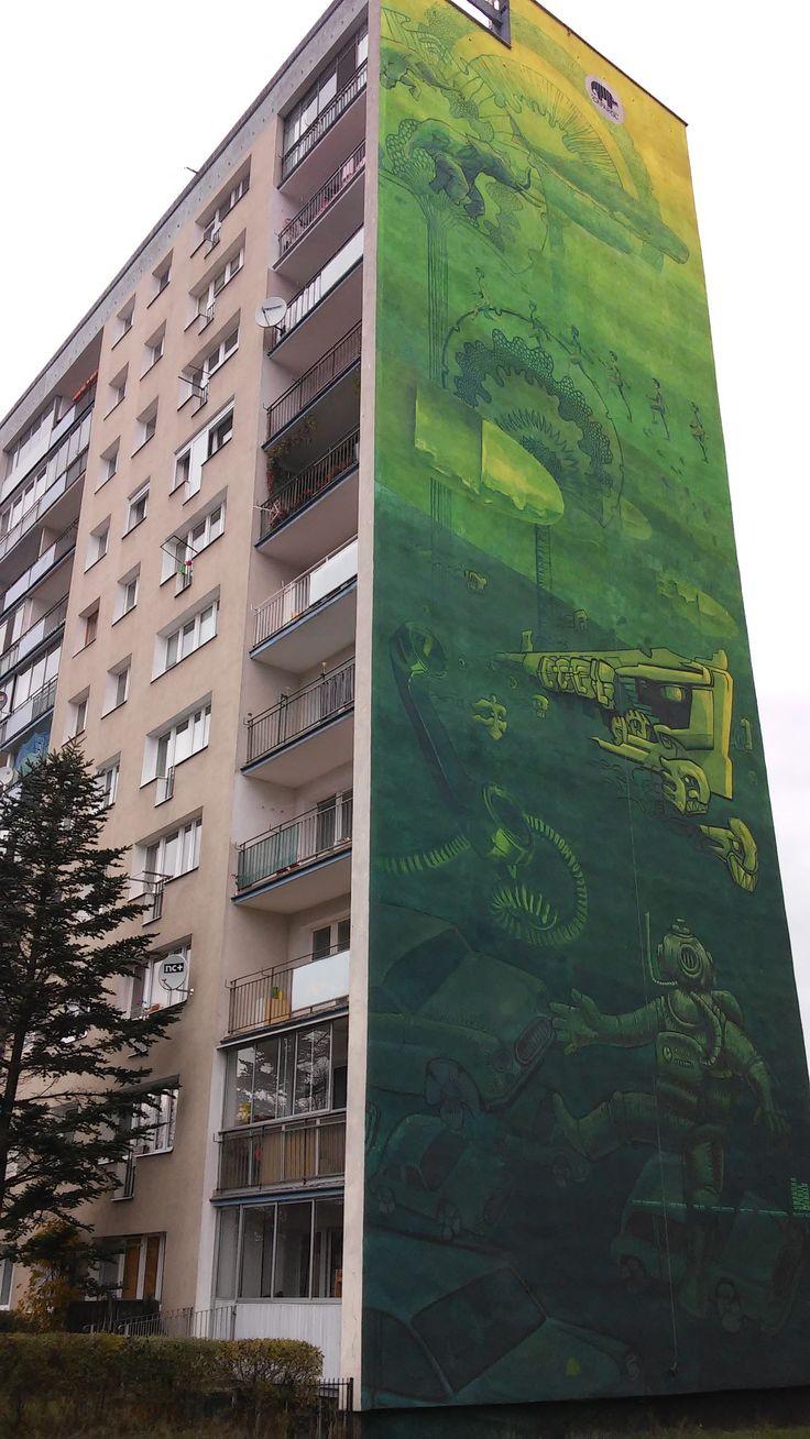 Gdansk Zaspa, Poland, mural
