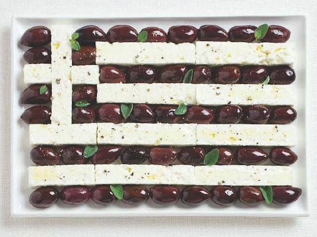 Edible Greek flag!