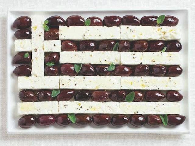 Edible Greek flag!