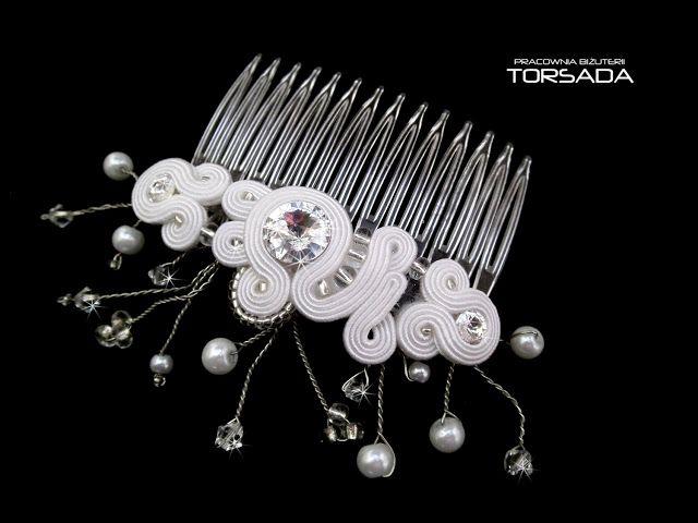 AURORA grzebyk do włosów biały | TORSADA