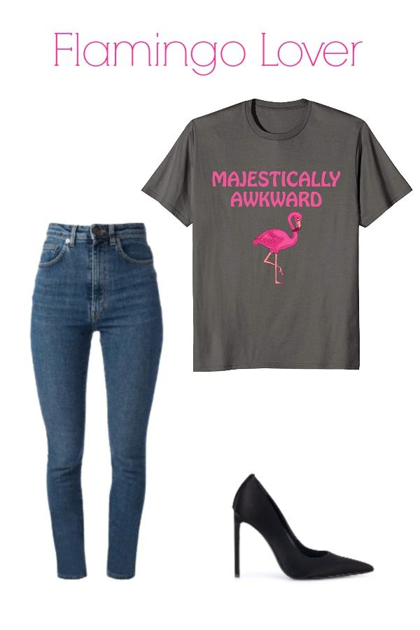 6c5a5f52 Majestically Awkward Flamingo Lover T-Shirt Our one leg flamingo shirts are  not beautiful pink flamingo painting, gorgeous flamingo watercolor or Tiki  ...
