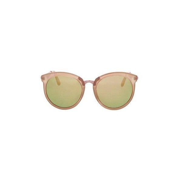 TopShop Sebb Flat Round Sunglasses ($30) ❤ liked on Polyvore featuring accessories, eyewear, sunglasses, nude, round frame sunglasses, flat-top sunglasses, mirror lens sunglasses, topshop sunglasses and mirrored lens sunglasses