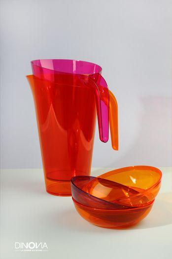 La gamme MOZAIK chez www.dinovia.fr. Une gamme de vaisselle jetable colorée pour la rentrée !
