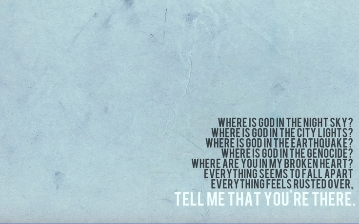 Day 1: Favorite Song - Vice Verses by Switchfoot. Always makes me teary.