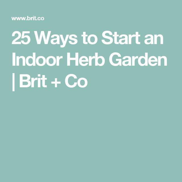 best 25 indoor herbs ideas on pinterest diy herb garden herb garden indoor and kitchen herbs - How To Start An Indoor Herb Garden