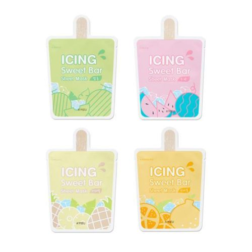 A'PIEU Icing Sweet Bar Sheet Mask 21g 4Type NEW  Feature A clean ocean deep water Transparent and soft tencel sheet is used to deliver effective ingredients more effectively. #Melon_Health & Soothing #Watermelon_Moisture #Hanrabong_Brightening #Pineapple_Soft Skin Texture  Type Option #Melon     #Watermelon      #Hanrabong     #Pineapple