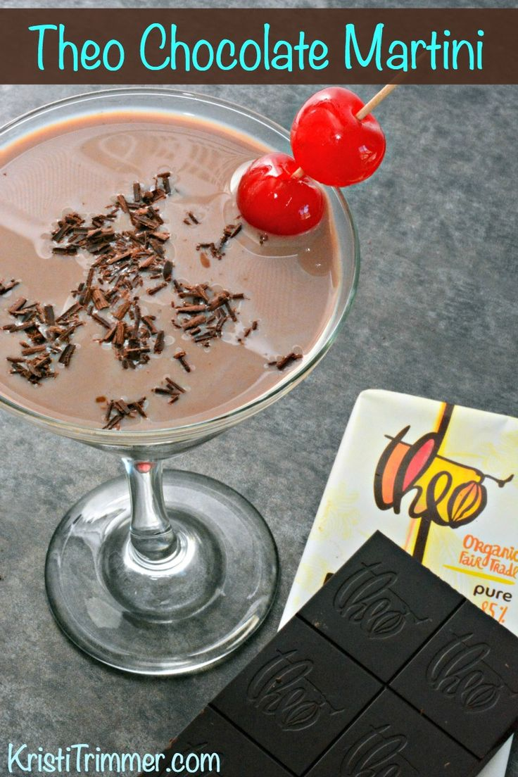 Just a little something to spice up your night... Theo Chocolate Martinis. So good, so chocolatey, so worth it. You're welcome!