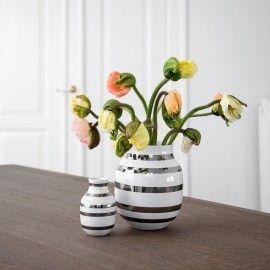 Kähler vase mellem - Sølv