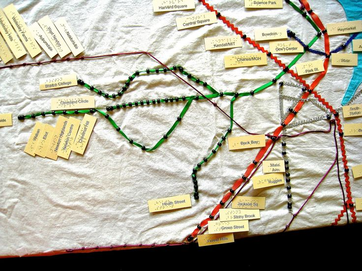 Homespun Tactile MBTA Map for Visually Impaired Users