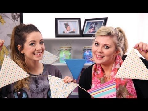 Diy with Louise (SprinkleofGlitter) and Zoe (Zoella) - Easy lanterns and bunting