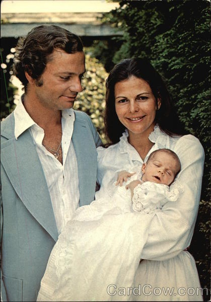 King Carl XVI Gustaf, Queen Silvia and Princess Victoria of Sweden