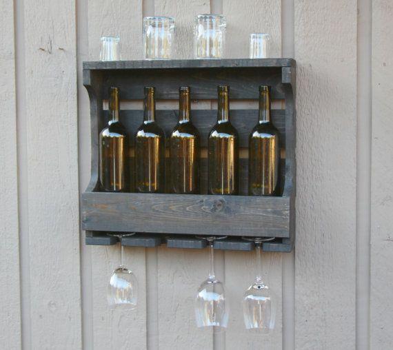 Hochzeitsgeschenk Wein-Regal Housewarminggeschenk von GBandWood