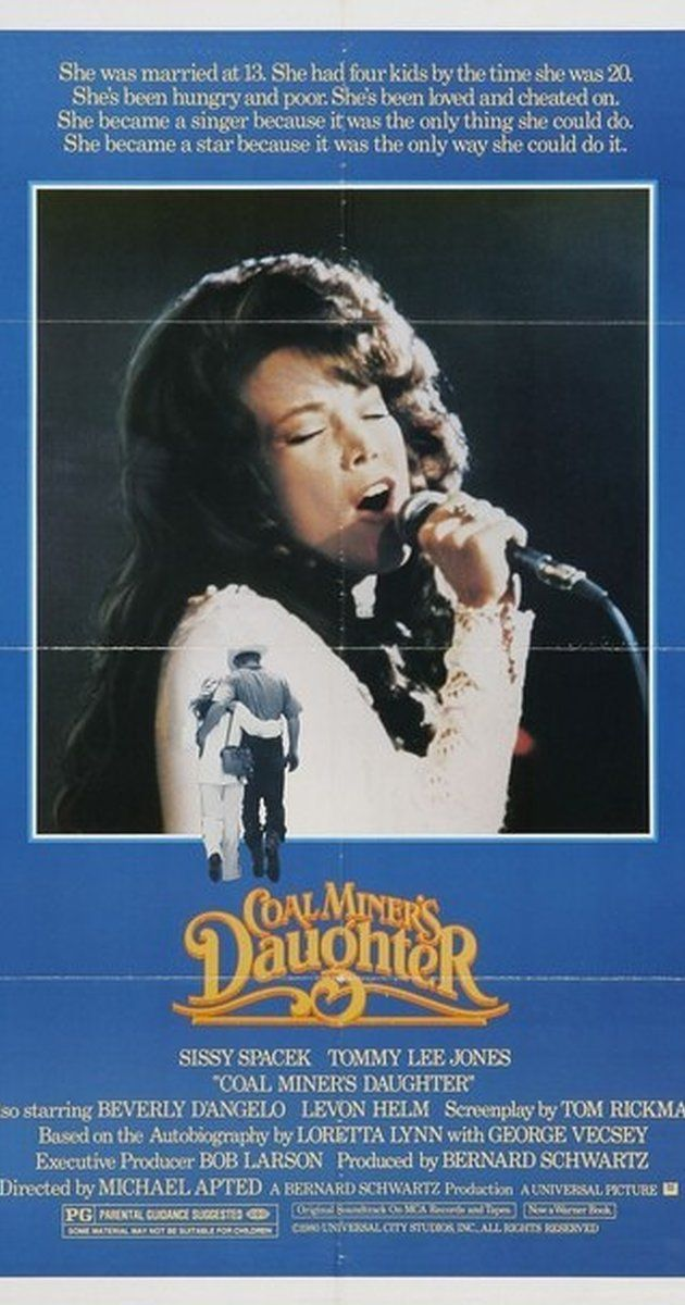 Directed by Michael Apted.  With Sissy Spacek, Tommy Lee Jones, Levon Helm, Phyllis Boyens-Liptak. Biographical story of Loretta Lynn, a legendary country singer that came from poverty to worldwide fame. She rose from humble beginnings in Kentucky to superstardom and changing the sound and style of country music forever.
