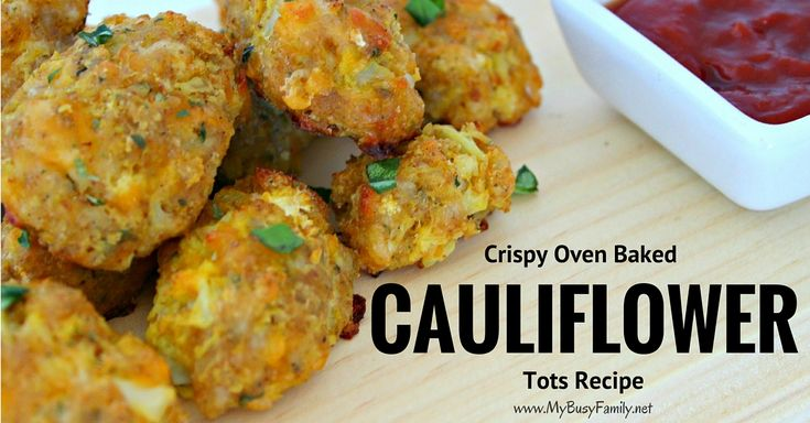 Today, I'm sharing one of my favourite ways to serve cauliflower that will very well fool any cauliflower hater out there! These delicious Crispy Oven Baked Cauliflower Tots are very easy to make, healthy, and delicious!