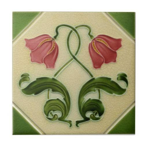 AN135 Art Nouveau Reproduction Antique Tile