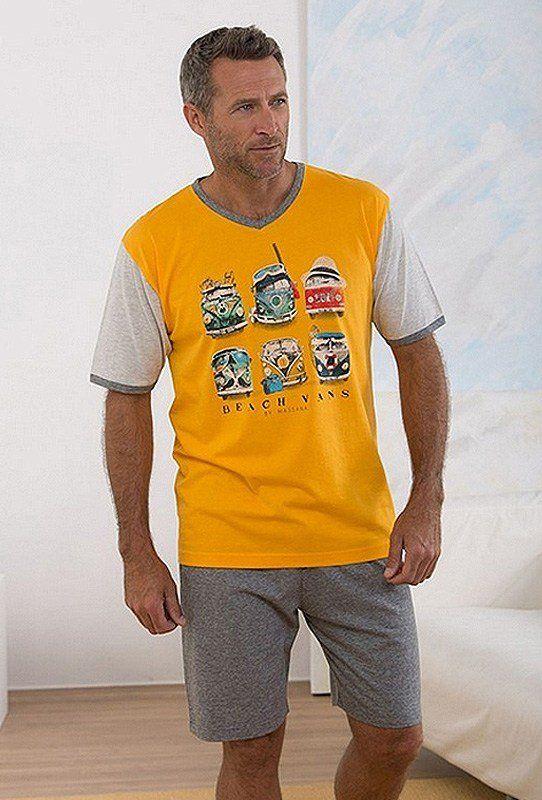 PIJAMA ALGODÓN 100%. Manga y pantalón corto pensando en los días de calor del verano. Pijama Vans Vintage en naranja pomelo. Envío Urgente 24/48h