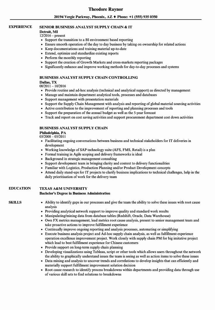 20 Business Analyst Intern Resume