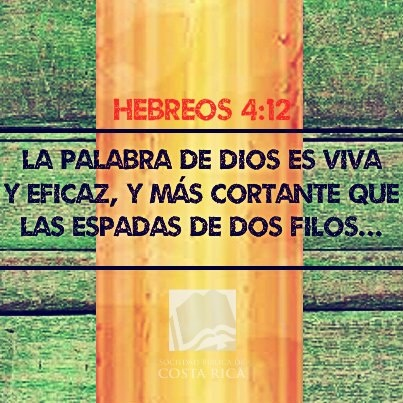 La Palabra de Dios es viva y eficaz... Gracias Sociedad Biblica Costa Rica!