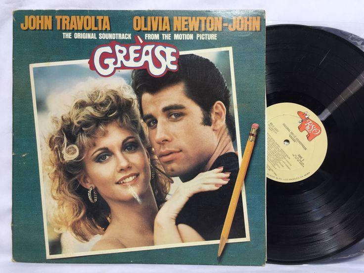 Grease Soundtrack RSO RS 2-4002 Original OOP Vinyl Record 2 LP