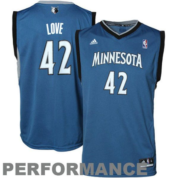 Kevin Love Minnesota Timberwolves adidas Youth Replica Road Jersey - Slate Blue - $19.99