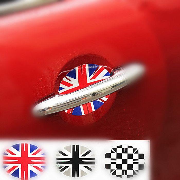 Mini Cooper UK Jack Flag Union Door Handle Scratch Guards Sticker 2pieces - Carsoda