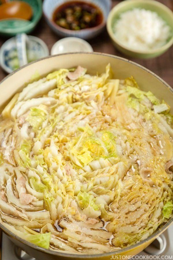 Mille-Feuille Nabe |  Snadné japonské recepty u JustOneCookbook.com