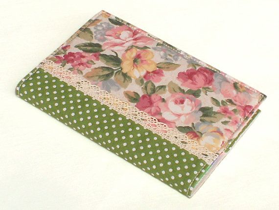 Fabric Journal  English Roses  Handmade A6 by PatchworkMill, $18.00English Rose