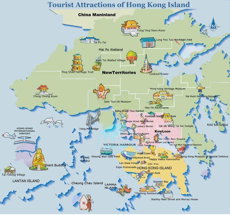Tourist Attractions of Hong Kong Island