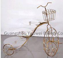 Бесплатный Fedex доставка форма велосипедов 3 уровня металл свадебные торты кекс стенд(China (Mainland))