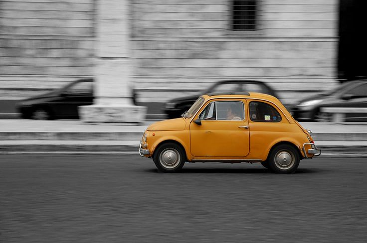 Panning shot of a Fiat 500 | Flickr - Photo Sharing!