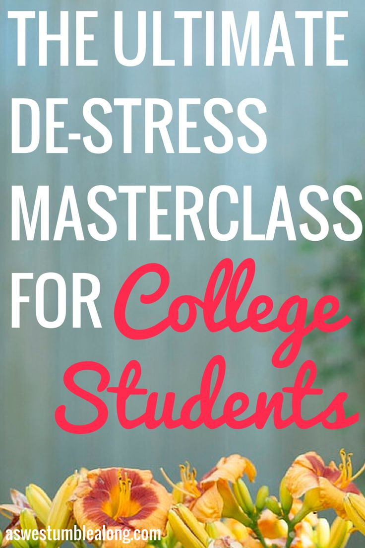 The Ultimate Stress Free Masterclass for College Students is, well..just that. A masterclass which you'll receive in email form! It's 7 days of dedicated lessons to help you get to the root of your stress and overwhelm at college and master handling it. Each lesson is broken down into easy to handle applicable steps, with great resources, awesome worksheets, and a healthy dose of introspection as well to help get down and gritty into solving all your college stress problems.
