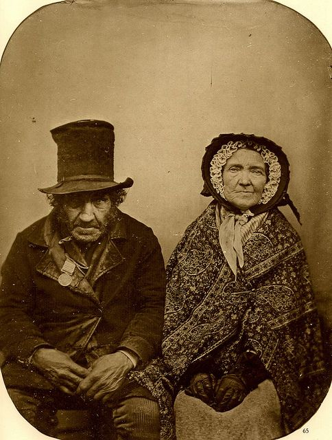 Veteran of Waterloo with His Wife, 1850
