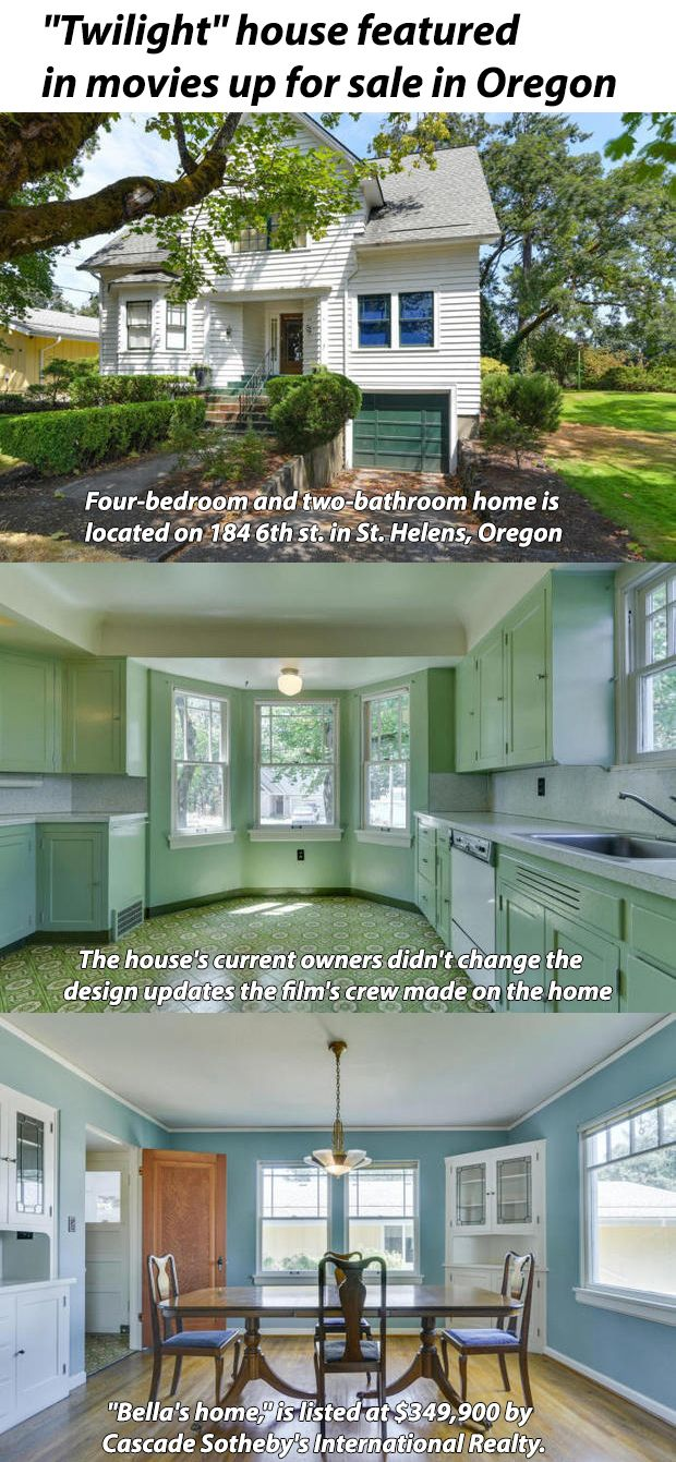 Twilight House Featured In Movies Up For Sale In Oregon Twilight House Movies For Sale Twilight