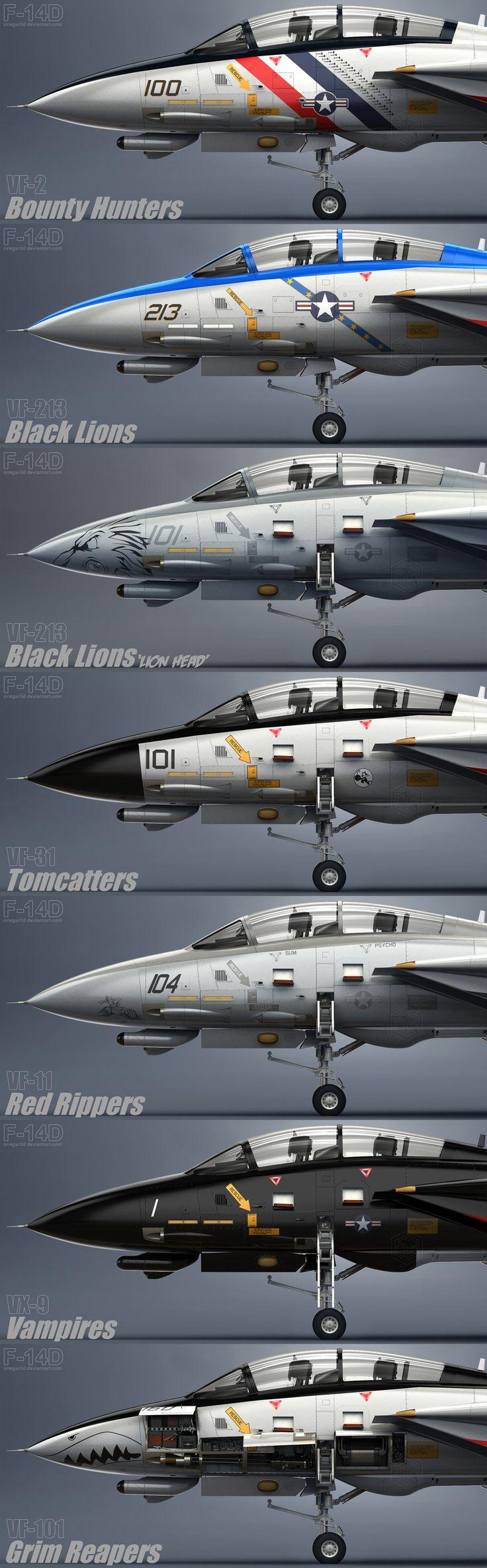 F-14 Tomcat squadrons. Very COOL!!