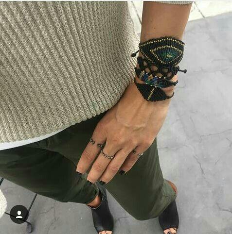 Tatiana choremi macrame bracelets