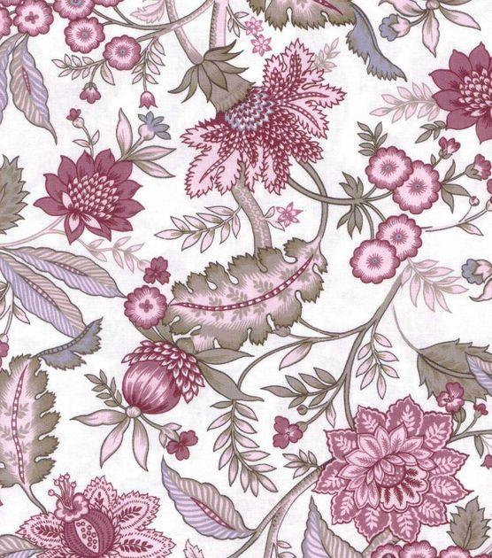 Buttercream™ Elizabeth Collection Cotton Fabric-Growing Floral Garden