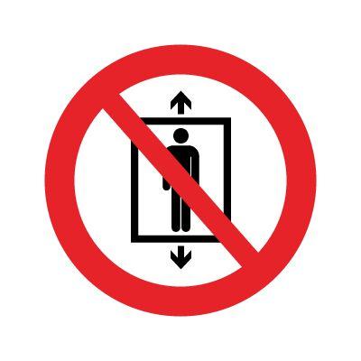 Brug af elevator forbudt - Køb forbudsskilte