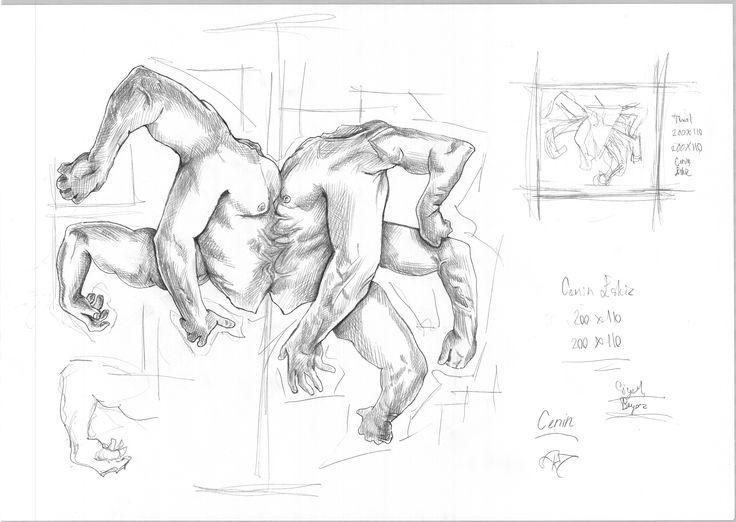 Araf - erkek eskiz çizim - by Arda Yolgösteren