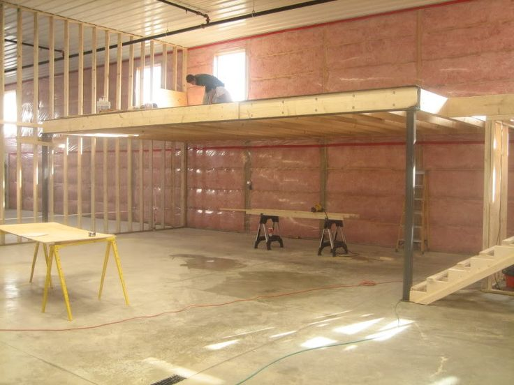 Best 25 garage loft ideas on pinterest loft shop for Steel building with loft