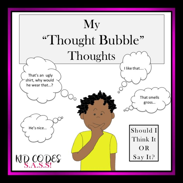 """Social Story: My """"Thought Bubble"""" Thoughts                                                                                                                                                     More"""