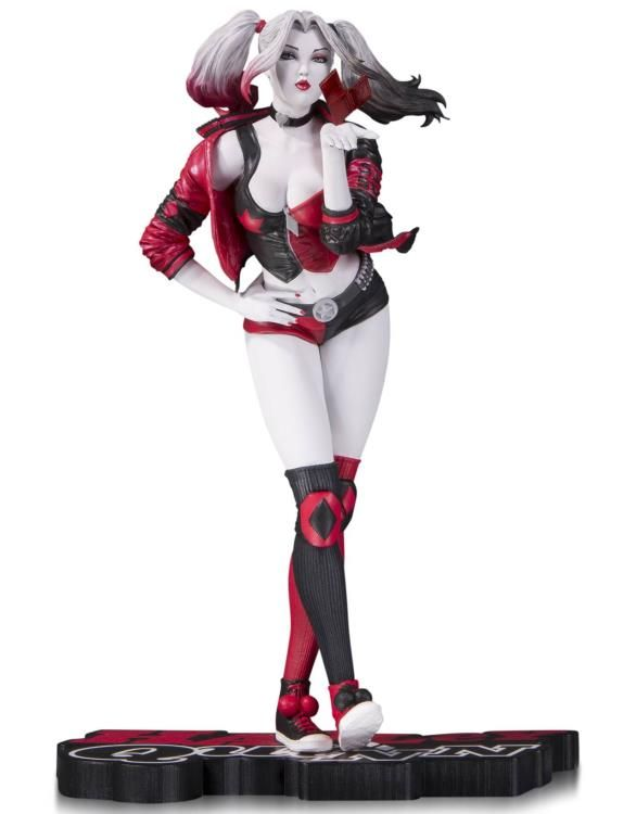 "DC Comics Red White & Black Harley Quinn Statue (Stanley ""Artgerm"" Lau)"